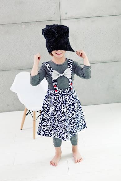 Spódnica na szelkach dla dziewczynki